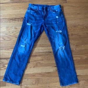 Blue Ripped Straight Aeropostale Jeans